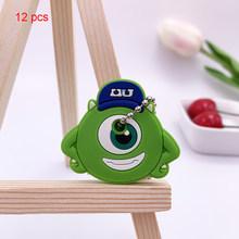 12 шт. защитный чехол для ключей для женщин/мужчин пылезащитный чехол-держатель для ключей силиконовые брелки с мультяшным рисунком аксессу...(Китай)