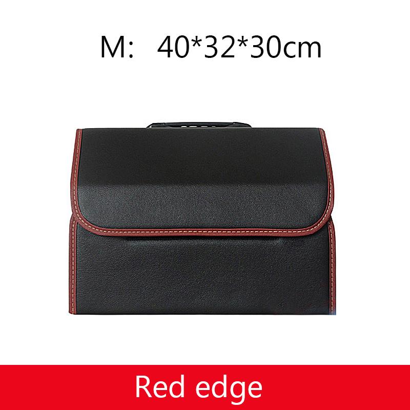2020 Одноцветный кожаный Органайзер для багажника, сумка для хранения из искусственной кожи, складная сумка с едой, напитками, зонтиком для уб...(Китай)