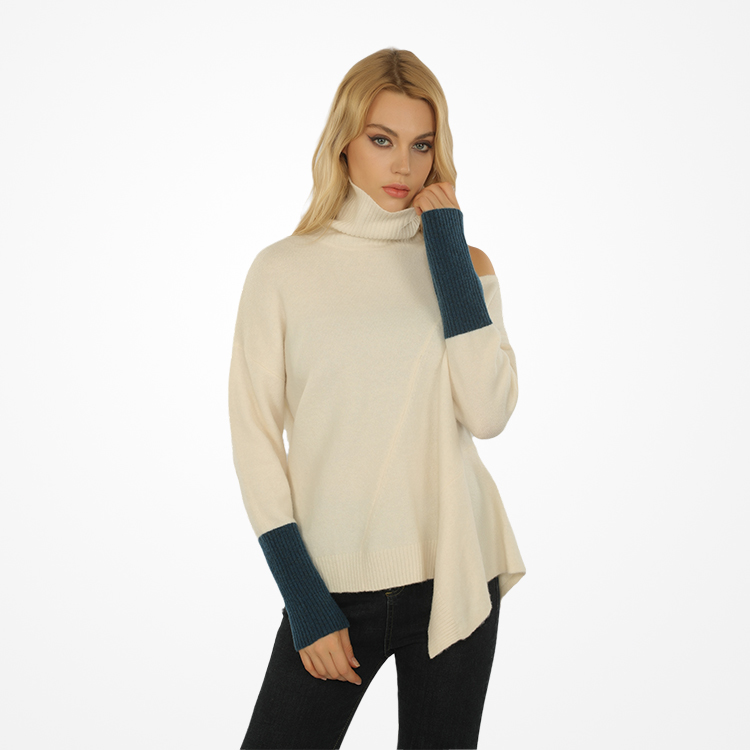Newest Design Fashionable Winter Wool High Neck Turtle Neck Sweaters for Women