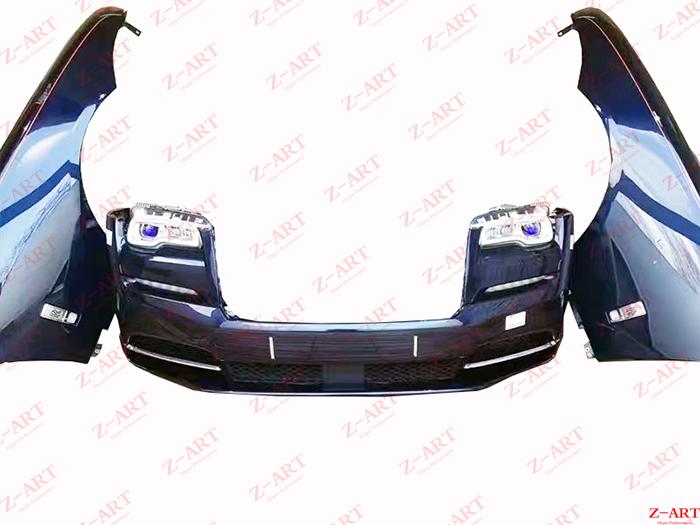Z-ART facelift body kit For Wraith 2013-2017 retrofit body kit for Wraith 2018-2020 looks front bumper +headlights