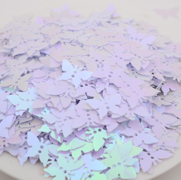 Оптовая продажа, блестки-бабочки из ПВХ, блестки россыпью, блестки для дизайна ногтей, маникюра, свадебные украшения