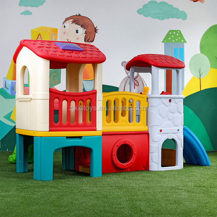 Многофункциональный новый дизайн, Домашний детский домик с горкой для продажи