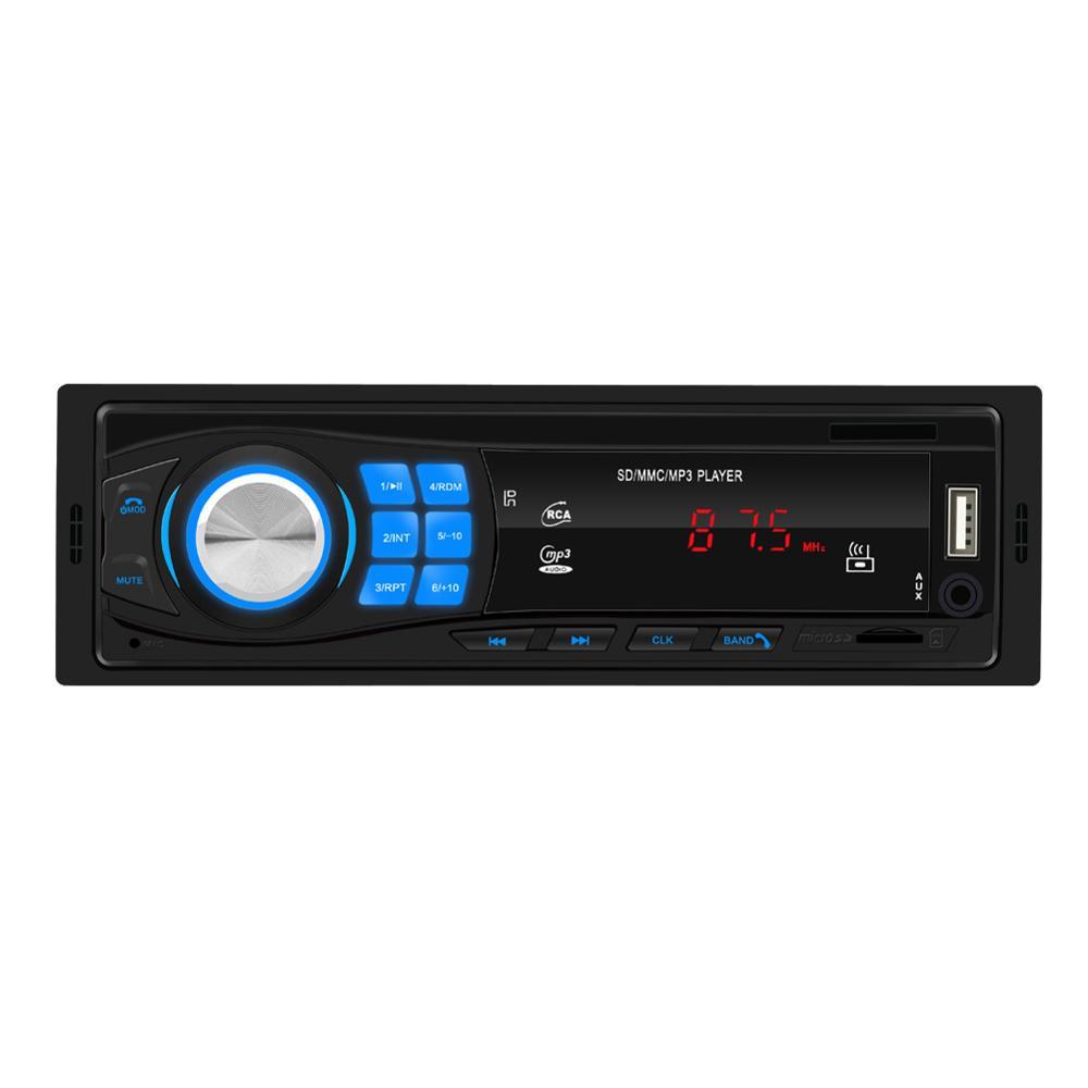 Автомагнитола EsunWay 1DIN, стерео MP3-плеер в приборной панели, Bluetooth, низкая мощность, USB, AUX, FM-радио
