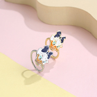 Jewelry Rings Korea Donald Duck Ring Creative Lady Children Cute Ring Fashion Personality Temperament Wearing Hand Jewelry Copper Gold Ring