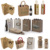 2016 Wholesales For Promotion Big Custom Eco-Friendly Wholesales Jute Tote Shopping Bag