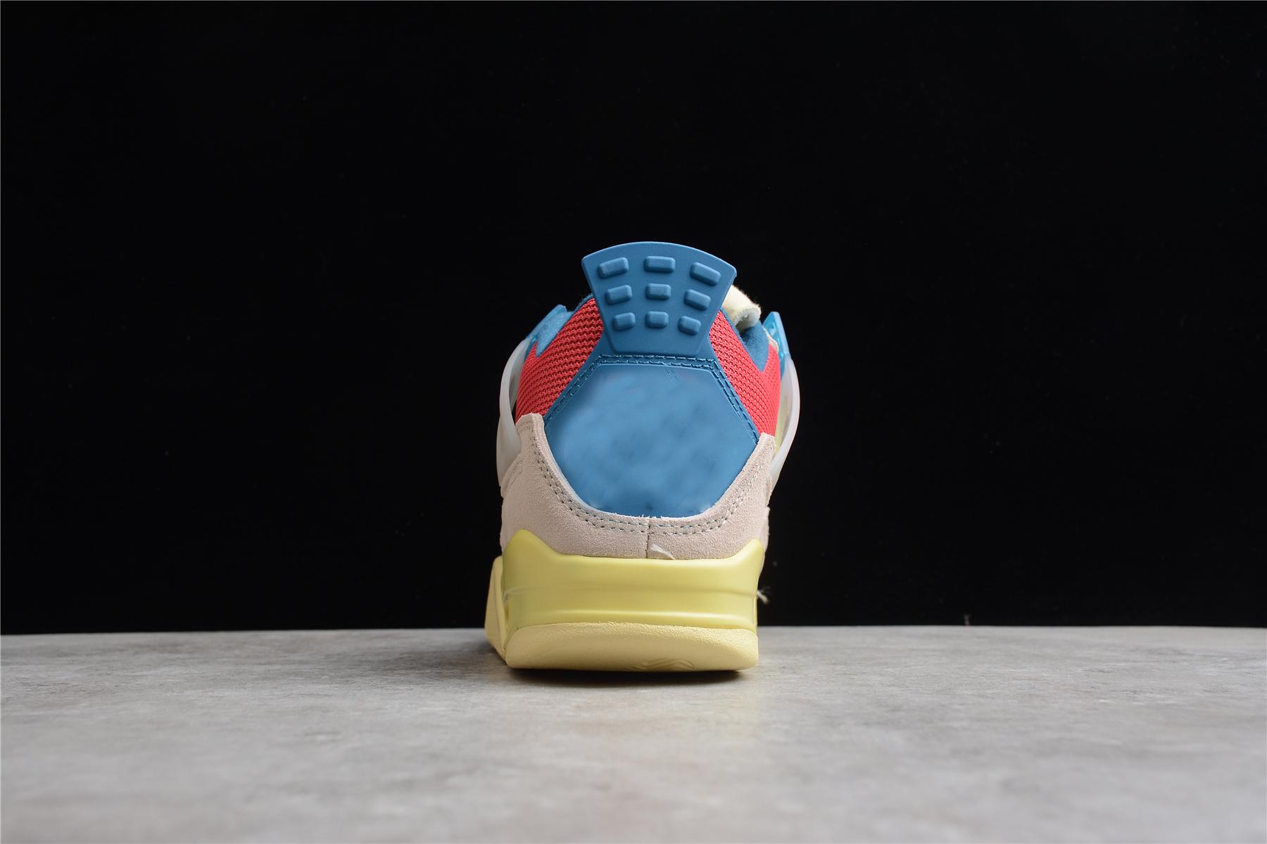 Высокое качество 1:1 Ретро 4S университет синий; Модная повседневная мужская и женская баскетбольная Повседневная обувь; Кроссовки; Сезон лето