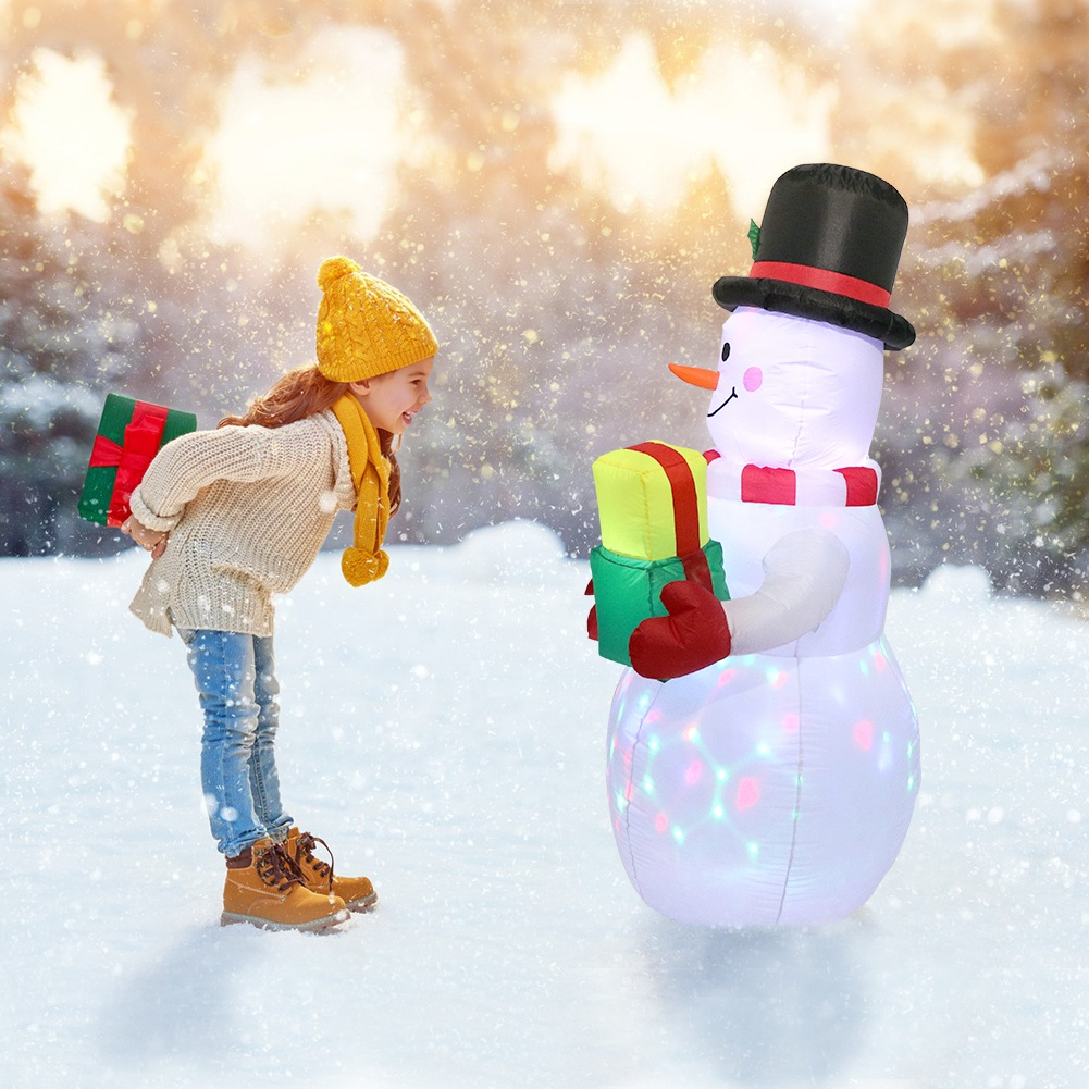Наружное украшение Ourwarm, оптовая продажа, 5 футов, светодиодная подсветка, Рождественский надувной снеговик