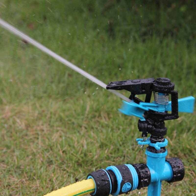 Plastic 360 degree impact sprinkler head for lawn