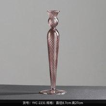 Стеклянные подсвечники скандинавский стол подсвечник свадьба в подсвечниках Декор креативный поворотный роскошный Kerzenhalter подарок FC181(Китай)