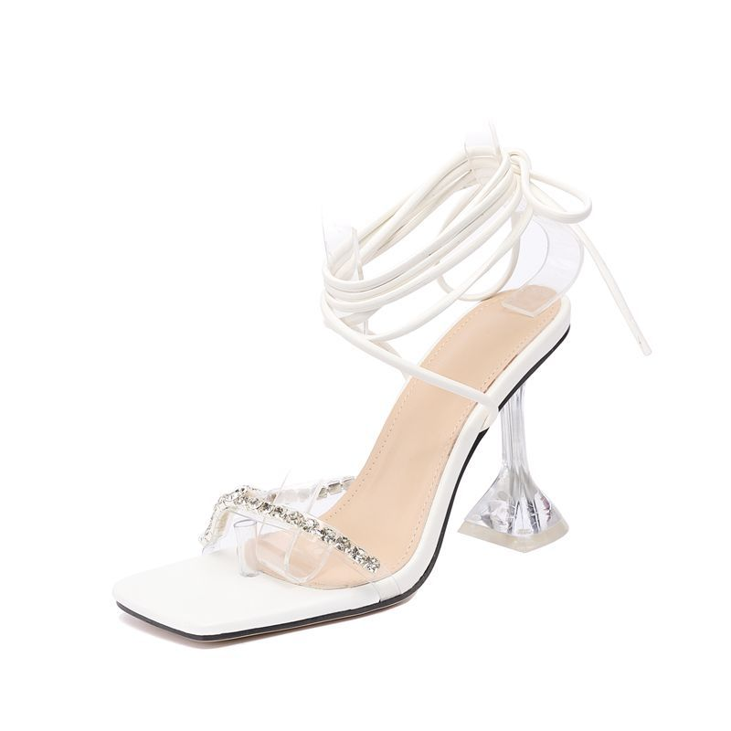 New Design Transparent Tpr Women Sandals High Heel Sandals