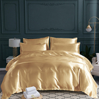 Hotel Satin Bedding Set Comforter Sets Hotel Home Solid Color Imitated Satin Silk Luxury 3pcs Comforter Bedding Set