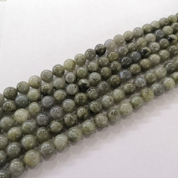 Natural Green Labradorite Gemstone Healing Energy Loose Beads for Jewelry Making Bracelets Necklaces Earrings 15.5""