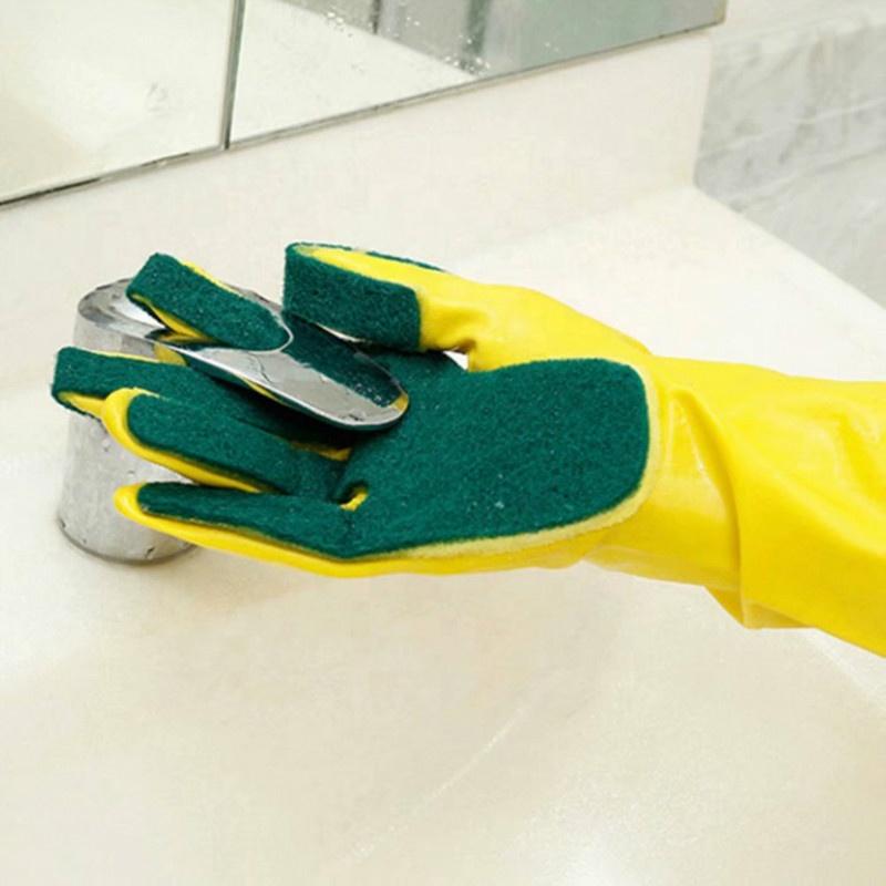 Бытовая кухонная домашняя губка для мытья посуды Пальцы для сада резиновая щетка теплые чистящие перчатки для мытья посуды <span style=