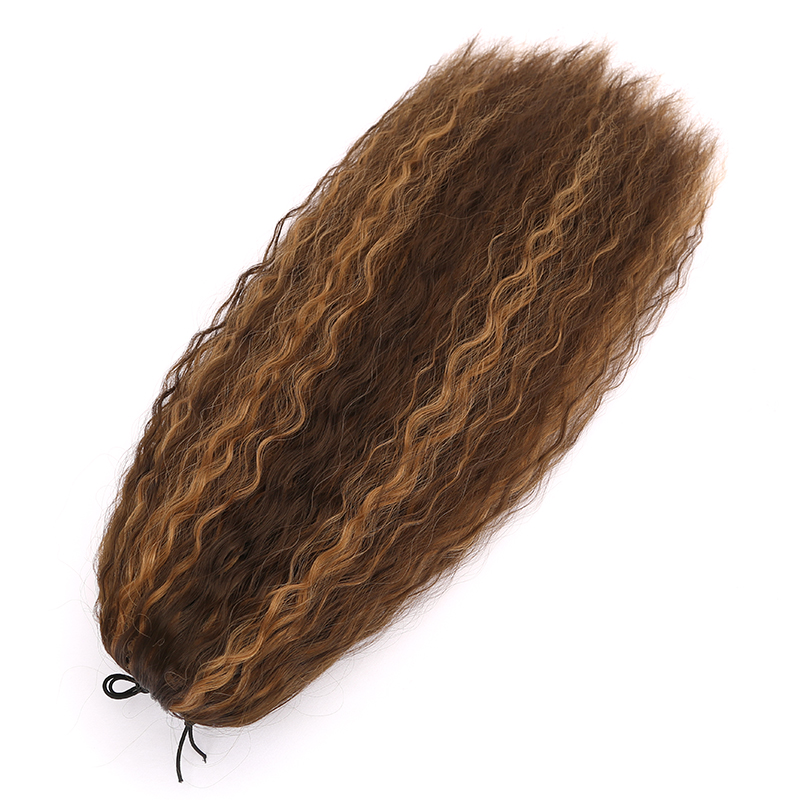 Popular PT609 Ponytails Yaki Synthetic Braiding Hair Ombre Ponytails For Women