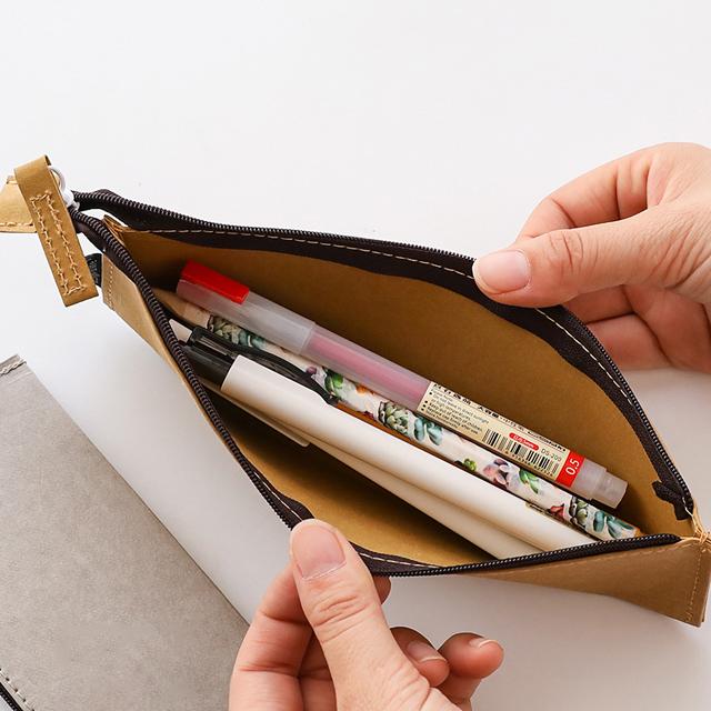 Пенал из крафт-бумаги для ручек и карандашей, 5-7 дней
