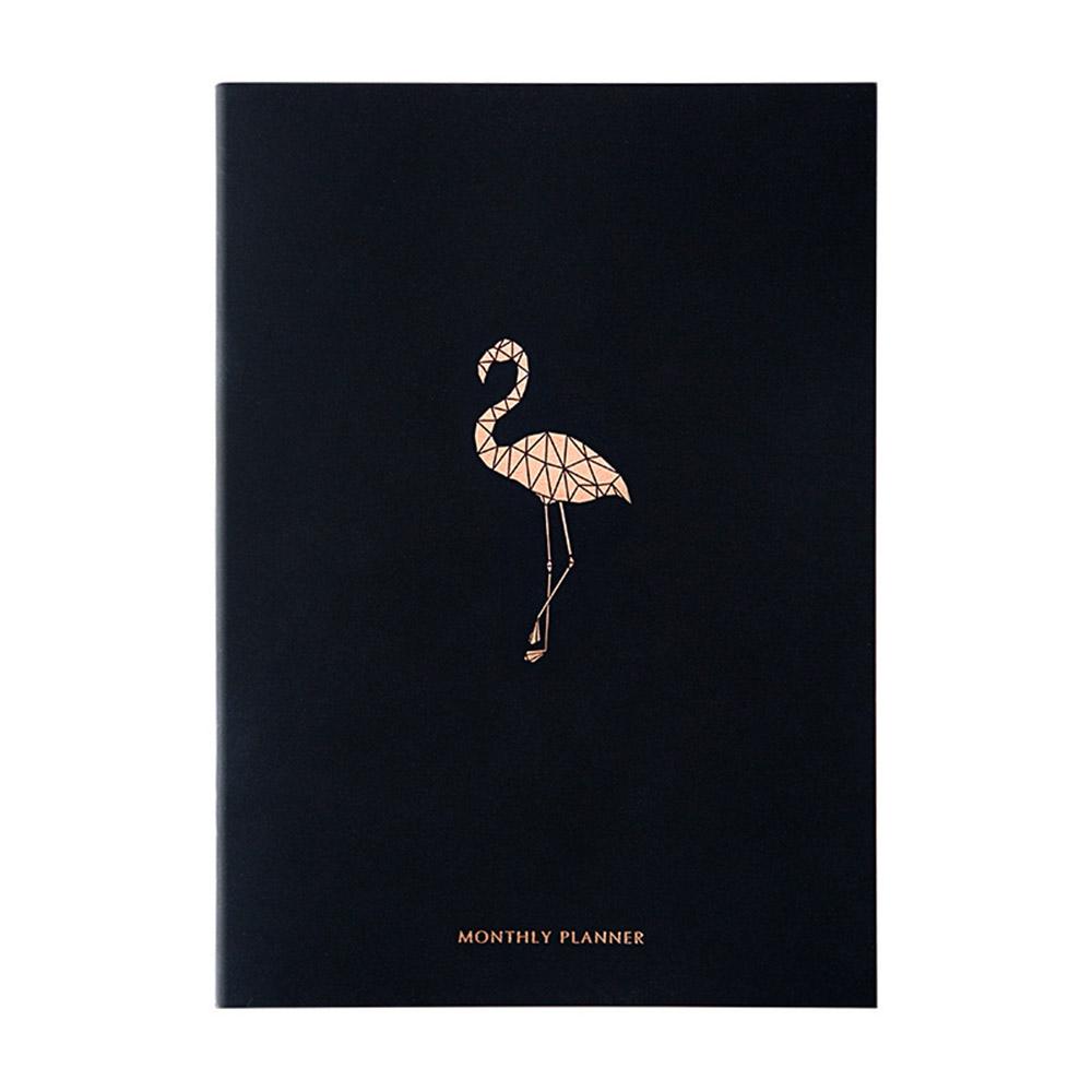 A4 дневник черный 2020 органайзер для планирования мероприятий Еженедельный ежемесячный Блокнот Журнал Kawaii школьный Блокнот Путешествия Рук...(Китай)
