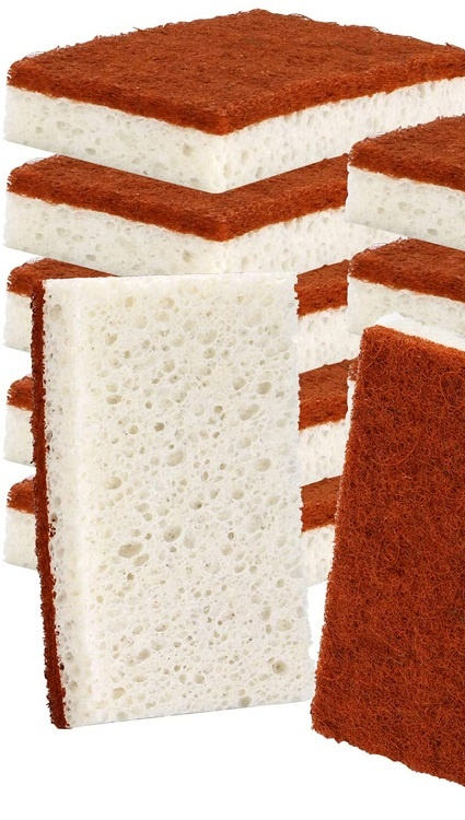 Naturel Écologique À Récurer Frottent des Protections Cocotier Pâte De Bois Coton Plat Cuisine Nettoyage Éponge En Cellulose