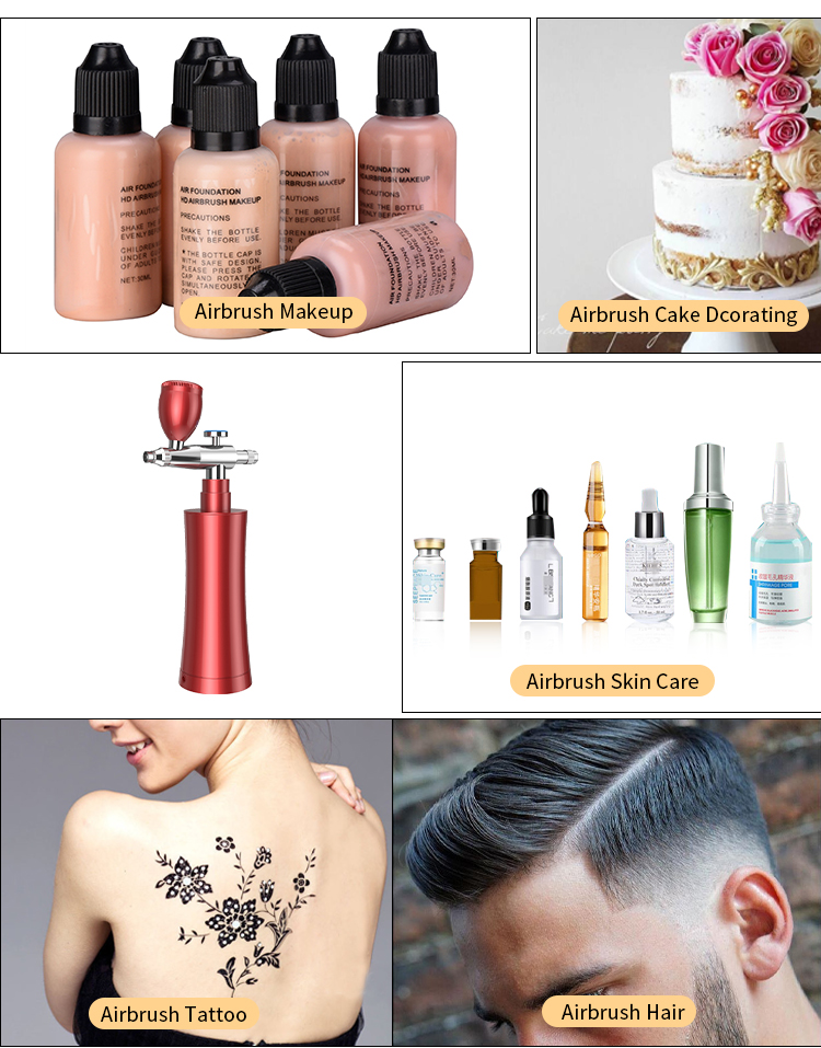 new arrival portable professional paint  air brush compressor barber tattoo airbrush kit with auto stop function