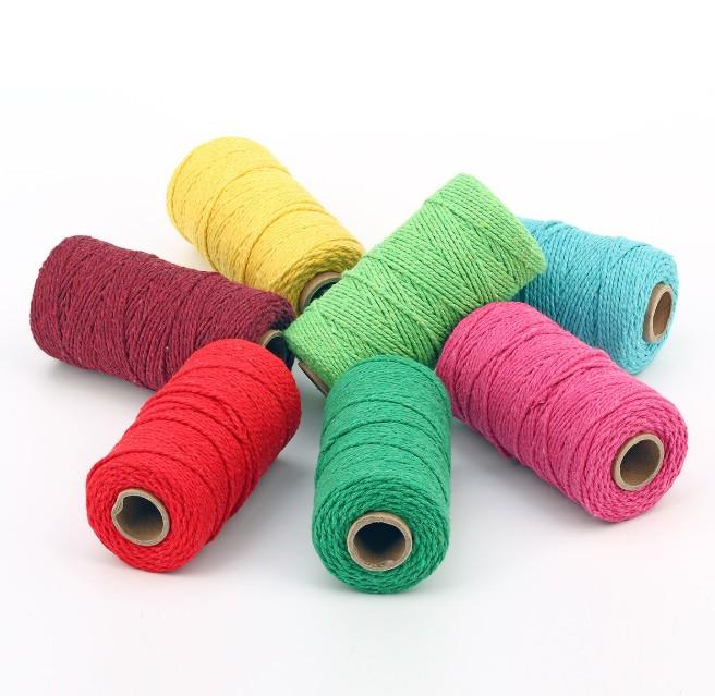 2mm to 8mm 100% natural cotton macrame cord makrame garn for handmade craft