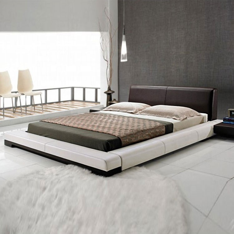 Elegant luxury bed hot sell in US king size leather beds