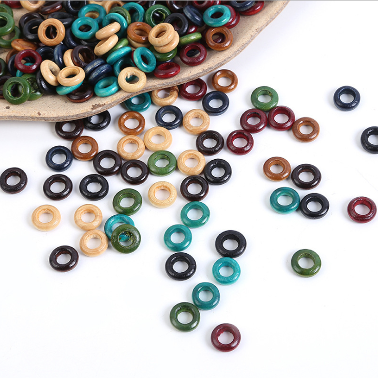 Fashion Natural Cube Wood Letter Beads For DIY Handicraft