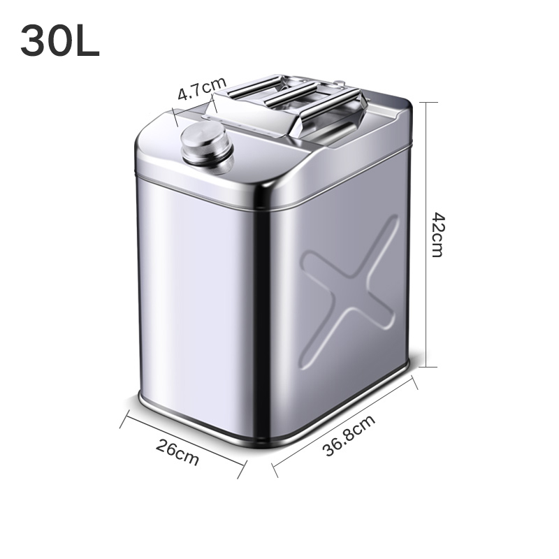 Stainless Steel Jerry Can Metal Car Motorcycle Petrol Gas Diesel Gasoline Fuel Tank Container