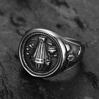 Silver Hot Sale Silver Plated Ring Seal Engraving Rings Air Balloon Ring For Male