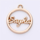 Charm Jewelry Tags Engraved Round Charm Custom Metal Pendants Logo For Jewelry