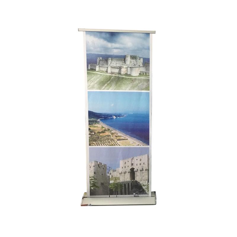 Выдвижной портативный стенд для баннеров, рекламный знак, витрина