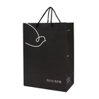 Recycled Gift Bag Paper Shopping Gift Bag Luxury Recycled Black Gift Jewelry Packaging Kraft Shopping Paper Bag
