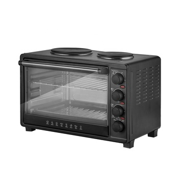 45L toaster oven with hot plate portable large table benchtop home baking oven