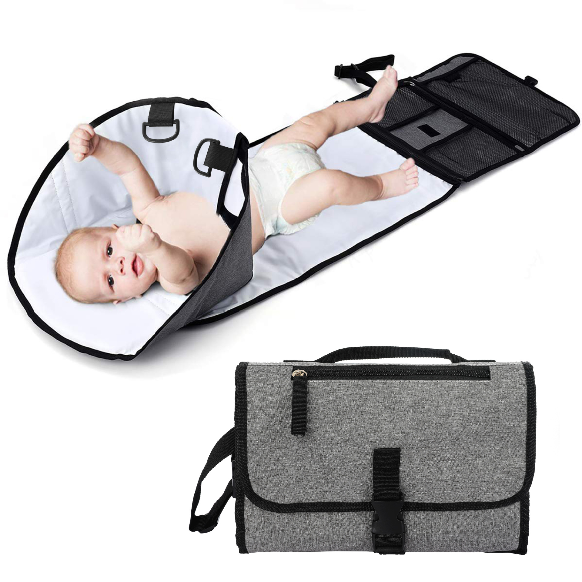 Easy Cleaning Waterproof Washable Mommy Portable Changing Mat Station Baby Sleeping Nappy Diaper Pad For Outdoor