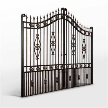 Exterior Metal Sliding Wrought Iron Gate Galvanized Steel Fence Door Iron Gate Design