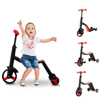 Pedal Mini Dirt Scooters Speeder 3 Wheel Seat Folding Kick Led Music Custom Kids Scooter