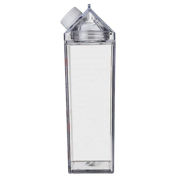 Bpa Free Milk Carton Shaped 500ml Square Plastic Bottles Eco Acrylic Milk  Carton Water Bottle 1000ml For Outside Sports Drinking - Buy Acrylic Milk  Carton Water Bottle,Milk Carton Water Bottle 1000ml,Clear Milk
