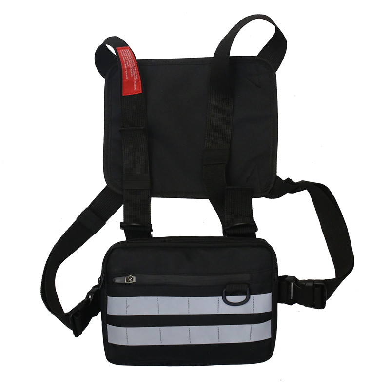Wholesale Fashion Reflective Unisex Waterproof Tactical Vest Conditioning Chest Pack rig bag