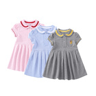 Fashion Kids Fashion Design Casual Clothing Sets Baby Girls Kids Dresses With Doll Collar