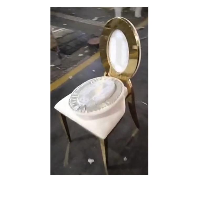 2021 Comfortable Modern Bathroom Home Office Golden Stainless Steel Restaurant Wedding Hotel Chairs