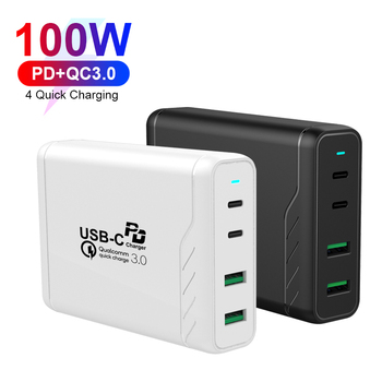 PSE/KC/SAA/CE/FCC Certified 3A PD Charger 100W Quick Charging USB Type C Multi Charger for Phone Tablet