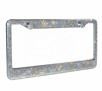 Wholesale Top Grade Crystal Bling Rhinestone Car License Plate Frame