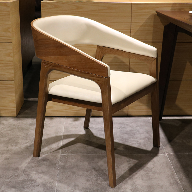 Hot sale hotel restaurant used solid armrest wood chair