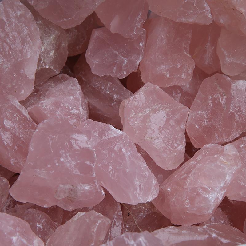 Natural rough crystal Stone rose quartz raw stone Crystal healing Stones