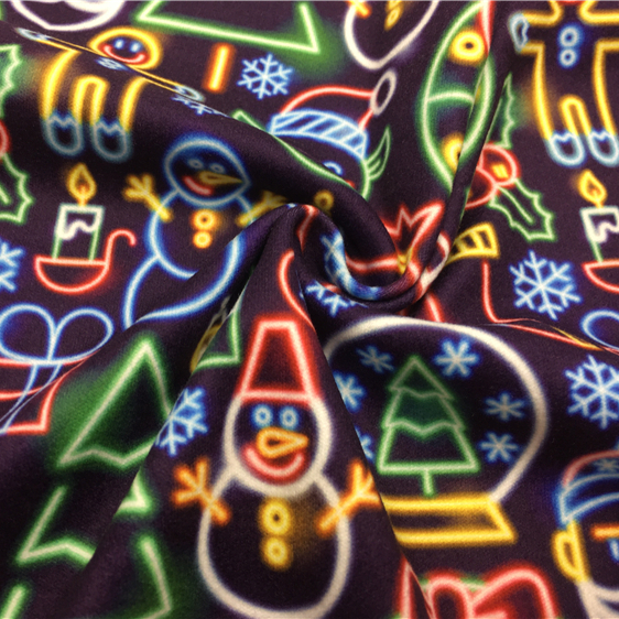Hot selling DBP Fabric polyester milky custom designs DTY double brushed poly print dbp and bullet fabric