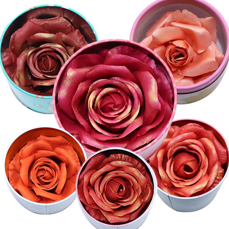 Wholesale Face Shinning Highlighter Blusher Long Lasting Cheek Contour Rouge Flower Petals 3D Rose Blush