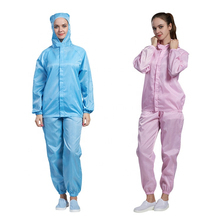Clean room unisex esd suit anti static hooded jackets and pants - KingCare | KingCare.net