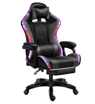 Travelcool Office Chair Gaming Racing Computer Backrest Home Pink Girl Reclining Office Chair Comfortable Led Gaming Chair