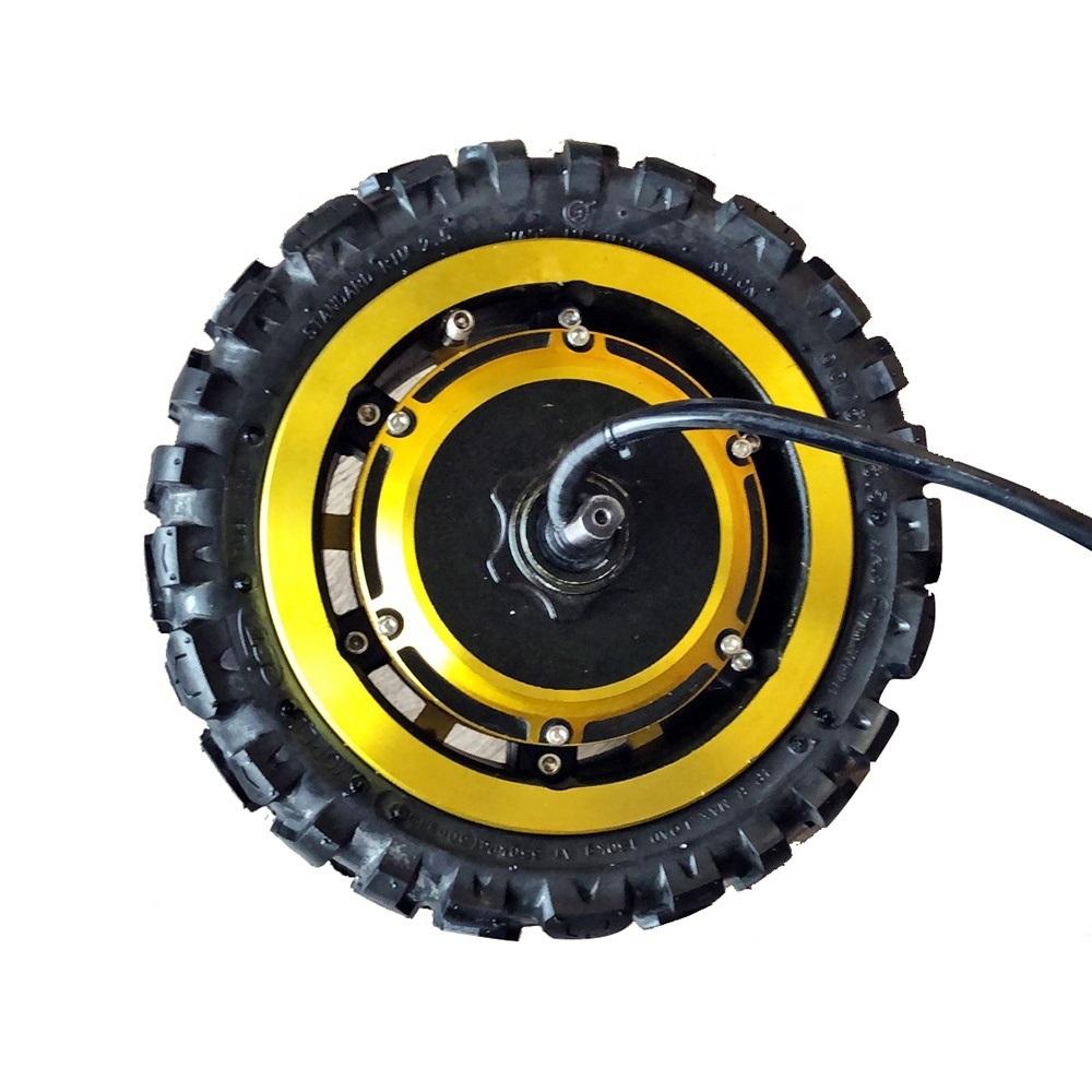 60V 1600W 3000W 11 дюймов быстрая скорость скутер Алюминиевая Передняя Ступица колеса мотор с золотой цвет