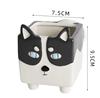 husky dog flower pot