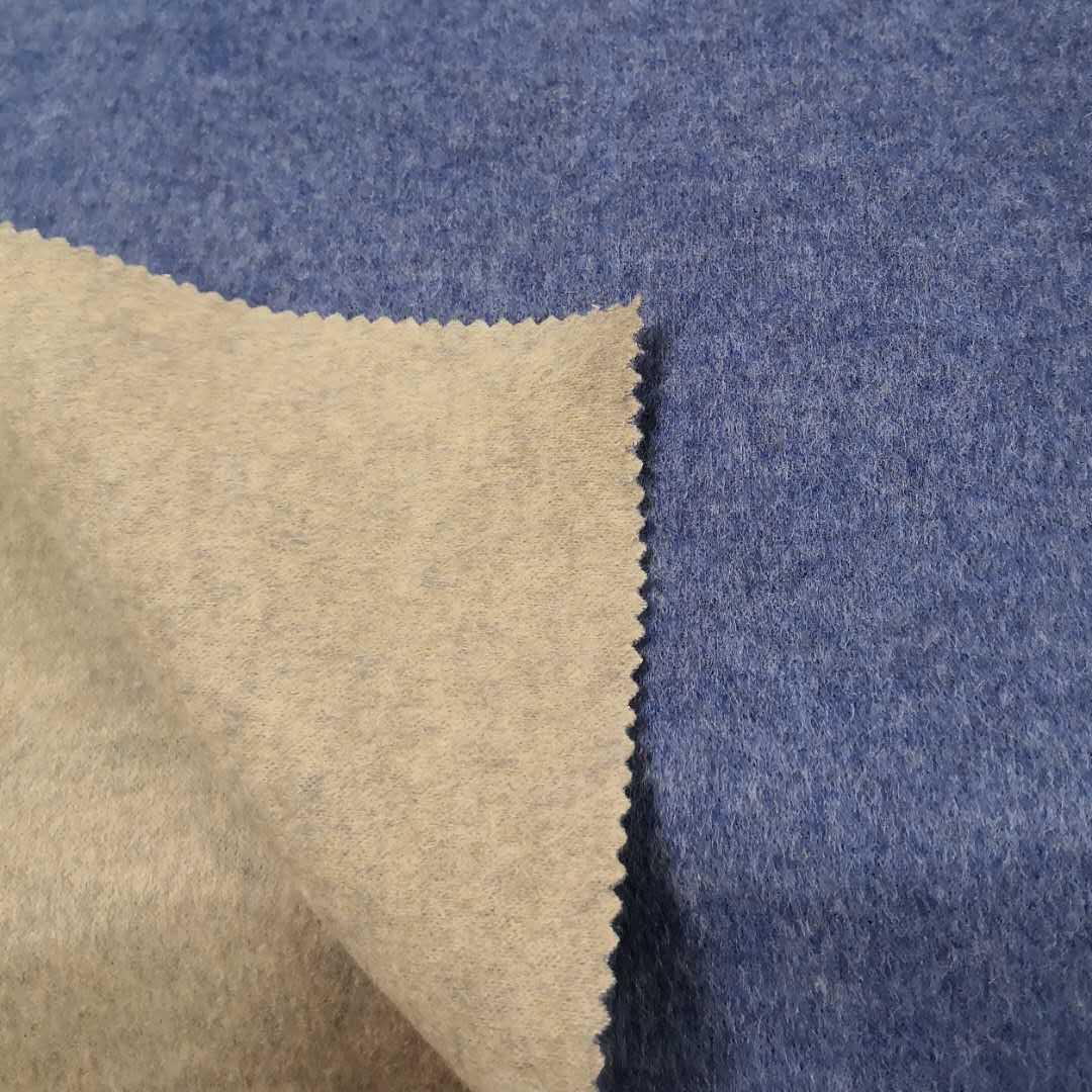 Высококачественная тканая двухсторонняя двухцветная 100% шерстяная ткань для одежды