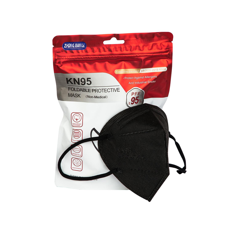 Manufacturer Fast Dispatch ZHONGJIANLE GB2626 2019 5 Layer KN95 Black KN 95 Face Mask mascaras - KingCare   KingCare.net